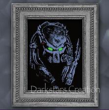 AVP Bounty Hunter - Predator Black Light Reactive Print - Block Art Poster