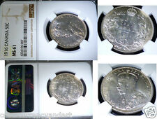 1916 Canada 50 CENTS Silver Coin KING GEORGE , NGC CERTIFIED MS 61 UNCIRCULATED