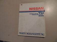 Taller de mano libro nissan TD motor diesel TD 23 25 27 27t, entre otros, Terrano 1. revisión