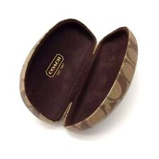 Coach Original Sunglasses Eyewear Case Brown Monogram Hard Case Size S