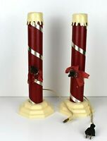 Vintage Set of Christmas Candle Electric Light Cardboard Plastic USA