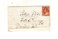 POSTAGE PAID?,UNUSUAL VALENTINE COVER TO PROVIDENCE R.I. 1850s,TO WALTER SIMMONS