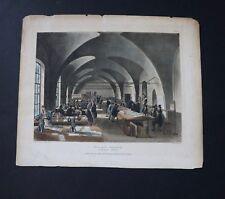Rudolf Ackermann 1809 Aquatint Stamp Office Somerset House Rowlandson/Stadler