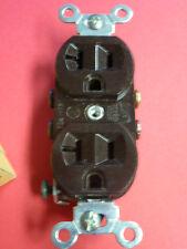 NEW! EAGLE DUPLEX 20A-125V RECEPTACLE #877B-BOX 2-POLE 3-WIRE BROWN