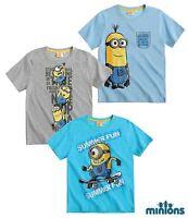 Minions Boys Despicable Me Minion Short Sleeve Top T Shirt 5 6 7 8 9 10 11 12