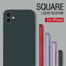 Para iPhone 11 Pro Max XS XR 8 7 Plus 12 Colores Funda Silicona Líquida Cuadrada