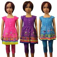 New Girls  LOVELY Tunic/Dress/Top&Leggings 2 Piece Set /Summer Outfit 2-10ys #76