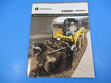 Original John Deere Sales Brochures Attachments Worksite Pro Skid Steer M1360