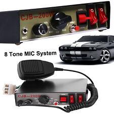 200W Car Truck Warning Alarm Police Siren Horn PA Speaker MIC System Control Box