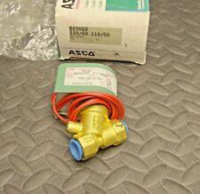 NEW ASCO 803068 Solenoid Valve 3/8 Inch Pipe Fuel Gas 15 psi 120/110 Volt Coil