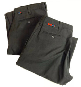 Lot Of 2 Men's 34x29 Workrite FR Nomex CAT 1 Pants Blue