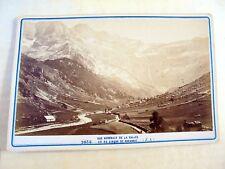 OLD ALBUMEN/CABINET CARD: VUE DE LA VALLÉE ET DU CIRQUE DE GAVARNIE~ca 1880