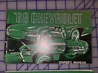 1968 Chevrolet Owners Manual Original Biscayne Bel Air Impala Caprice 3rd Ed