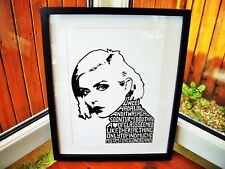 Blondie/Debbie Harry/Heart Of Glass A3 size typography art print/poster