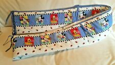 Crib Disney Bumper Pad Mickey Minnie Pluto 13 Ft. Double Sided Film Design