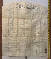 RARE 1827 Indenture Deed Philadelphia PA Ben Chew Quaker Edward Burd Tilghman