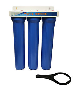 """KOI Pond Dechlorinator 20"""" Water Filter System with filters - Hosepipe style"""