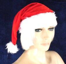 weiche Zipfelmütze mit Plüsch, SantaMütze, Rot Weiß mit Plüsch, NEU, Nikolaus