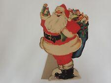 Vintage Whitman Store counter top display Santa Claus fuzzy wuzzy flocked