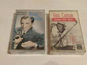 2 New Sealed BING CROSBY Swing Music Cassette Tapes!