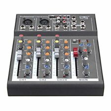 Professional Dj Audio Mixer Board With 4 Channels Sound Audio Mix Console