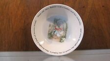 Beatrix Potter Peter Rabbit Bowl Wedgwood of Etruria England Made in England