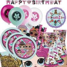 LOL Surprise! Party Tableware (Cups Plates Napkins Tablecover Balloons)