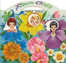 VINTGE 1960s FLOWER GIRLS PAPER DOLL ~12 PG LASR REPRO~ORG SZ UNCUT~LO P FREE SH
