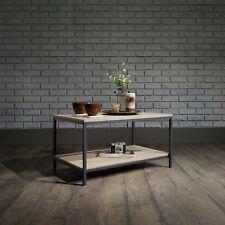 Stile industriale scaffale tavolino con struttura in metallo nero & rovere sonoma