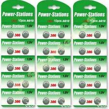 30 x Alkaline 1.5V Button Cell Batteries  AG12 LR43 386