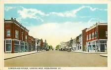Kentucky, KY, Middlesboro, Cumberland Avenue, Looking West 1920's Postcard