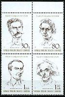 Albania 1989  Sc2313a   Mi2398-401  1 block mnh  Famous People