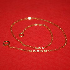 Flat Cable Chain Anklets Wholesale Lot 6 pieces 14kt Gold Filled Fine 1.5x2mm
