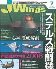 J WINGS No.119 STEALTH AIRCRAFT F-22A JSF YF-23 B-2 F-117 / WW2 F8F vs A7M2 IJN