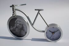 Modern Clock Photo Frame Table Desk  Home Office Decoration Gift for Her Bicycle