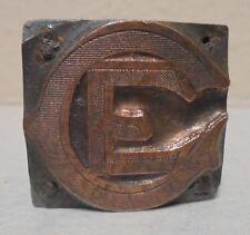 Vintage Printing Letterpress Printers Block CE Chicago?