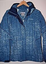 Columbia Womens Bugaboo Ski Winter Parka Jacket Coat Omni-Tech Waterproof Blue M