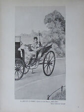 1912 Max Klinger IM BOIS DE LA CAMBRE Studie zu Eine Liebe alter Druck old print