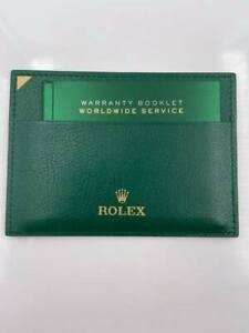 Rolex Green Wallet with Warranty Booklet Worldwide Service Booklet