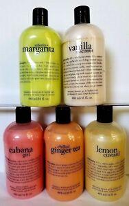 PHILOSOPHY Shampoo, Shower Gel & Bubble Bath 16oz SEALED PICK YOUR FLAVOR/SCENT