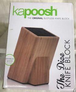Kapoosh The Dice Knife Block Bamboo Wood