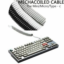 Coiled Cable Interface Micro Mini USB Type-C Mechanical Keyboard GH60 XD64 XD75