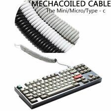 Interfaz de cable en espiral Micro Mini Usb Tipo C Mechanical Keyboard GH60 XD64 XD75