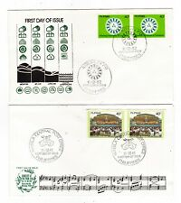 2 pcs PHILIPPINES FDC W/ ERROR STAMPS - G