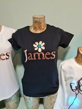 More details for ladies james tim booth the band '90 style tee t shirt retro madchester rose gold