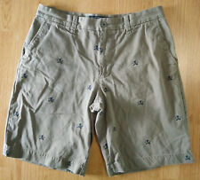Old Navy Surplus Company Men Shorts 33 Skull Cross Bones Swords Pirate Khaki Vtg