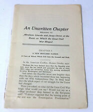 Abraham Lincoln And Jesus Christ An Unwritten Chapter Which The Civil War Hinged