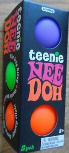 Teenie Nee Doh Stress Ball Squeeze Schylling NEEDOH TND Pack of 3 Balls