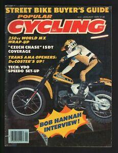 1978 January Popular Cycling - Vintage Motorcycle Magazine