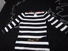 Ralph Lauren Striped Boat Neck Nautical Dress XS